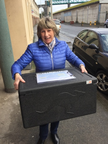 Nula Drew Collecting Meals on Wheels