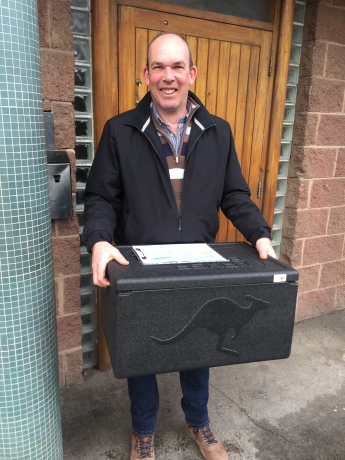 Karl Allen Collecting Meals on Wheels