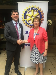 Robert Taylor President Marie Mullooly Assistant District Governor (Navan Branch)